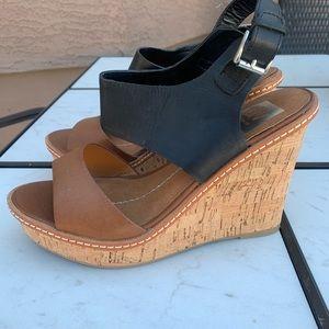 Dolce Vita women's wedge heels size 8.5 cork shoes